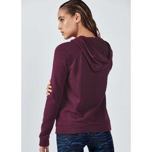 Fabletics Tops - Fabletics Ruby Full Zip Long Sleeve Maroon Hoodie